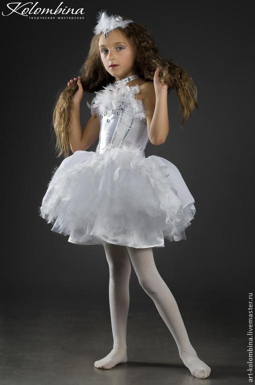 Детские карнавальные костюмы ручной работы. Ярмарка Мастеров - ручная работа. Купить костюм Голубка. Handmade. Белый, атлас
