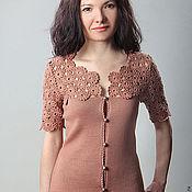Одежда ручной работы. Ярмарка Мастеров - ручная работа Жакет вязаный 1489. Handmade.