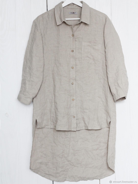 Linen shirt of the original cut, Shirts, Tomsk,  Фото №1