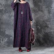 Одежда handmade. Livemaster - original item Dark red dress big size. Handmade.