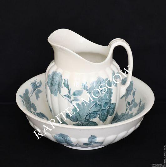 Винтажная посуда. Ярмарка Мастеров - ручная работа. Купить Туалетный набор большой кувшин таз Англия 2. Handmade. Кувшин, Таз
