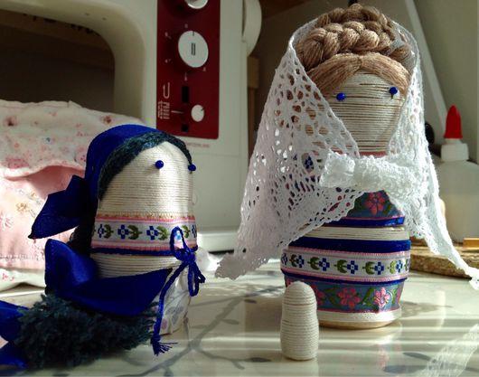 """Народные куклы ручной работы. Ярмарка Мастеров - ручная работа. Купить Матрешки """"Дочки-матери"""". Handmade. Тёмно-синий, кружево"""