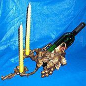 Для дома и интерьера ручной работы. Ярмарка Мастеров - ручная работа Кованая подставка под вино. Handmade.