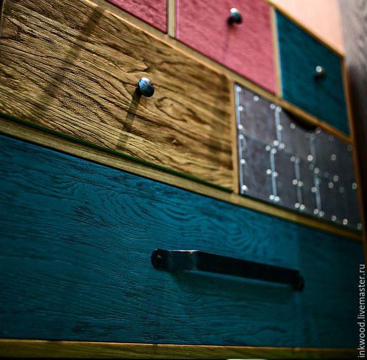 Мебель ручной работы. Ярмарка Мастеров - ручная работа. Купить Комод. Handmade. Бирюзовый, лофт, трюмо, интерьер, стильная мебель