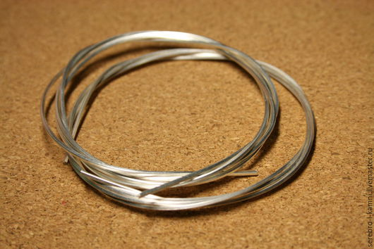 Для украшений ручной работы. Ярмарка Мастеров - ручная работа. Купить проволока квадратного сечения 1 мм (серебро 925). Handmade.