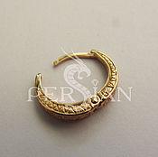 Украшения handmade. Livemaster - original item Single earring: Mens gold earring. Handmade.