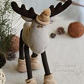 Куклы и игрушки handmade. Livemaster - original item Elk. Textile toy.. Handmade.