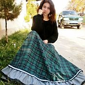 Одежда handmade. Livemaster - original item The skirt is long to the floor, wool, `Daisy