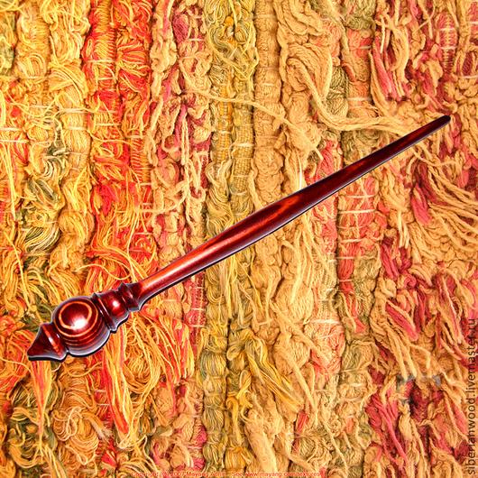Другие виды рукоделия ручной работы. Ярмарка Мастеров - ручная работа. Купить Веретено для прядения Сосна. Handmade. Коричневый, прядение