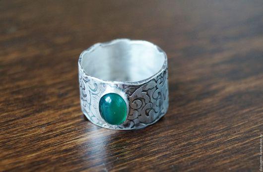 Кольца ручной работы. Ярмарка Мастеров - ручная работа. Купить Серебряное кольцо с агатом. Handmade. Серебряный, кольцо с камнем серебро