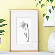 Картины и панно handmade. Livemaster - original item Painting interior Flowers Narcissus Painting gift Painting on the wall. Handmade.