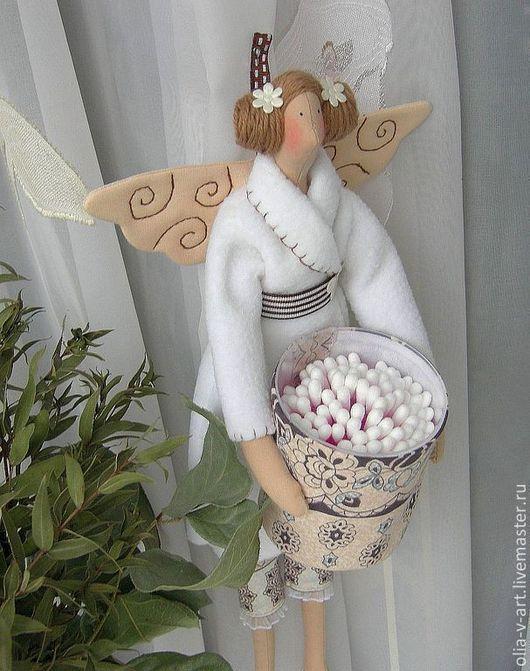 """Куклы Тильды ручной работы.Тильда  ангел  """" Банная фея"""". Уютный дом.  Ольга Васильева. Ярмарка Мастеров."""