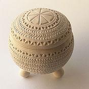 Для дома и интерьера ручной работы. Ярмарка Мастеров - ручная работа Керамическая шкатулка для украшений и мелочей. Handmade.