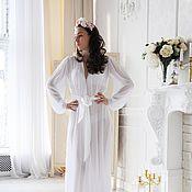 Одежда ручной работы. Ярмарка Мастеров - ручная работа Белоснежное Будуарное платье. Handmade.