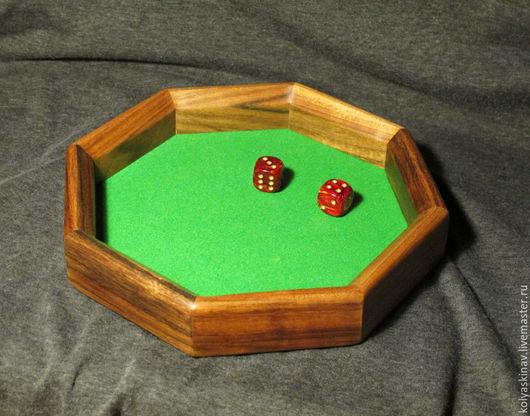 Настольные игры ручной работы. Ярмарка Мастеров - ручная работа. Купить Лоток для игральных кубиков (dice tray). Handmade.