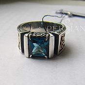 Украшения handmade. Livemaster - original item Men`s Topaz Ring London. Handmade.