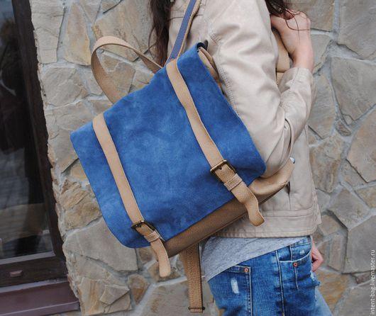 Рюкзаки ручной работы. Ярмарка Мастеров - ручная работа. Купить С006Z. Handmade. Бежевый, ранец, рюкзак кожаный, натуральная кожа