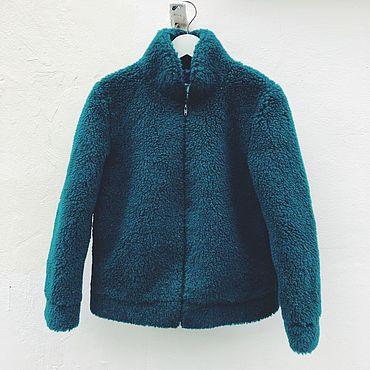 Одежда ручной работы. Ярмарка Мастеров - ручная работа Куртка-бомбер из натуральной овчины на тканевой основе. Handmade.