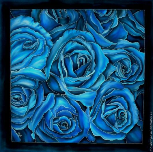Можно расписать платок в любом цвете - и Вы королева!!!