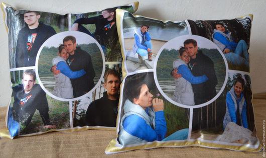 Парные подушки- прекасный подарок для влюбленных, для семейной пары, для молодоженов