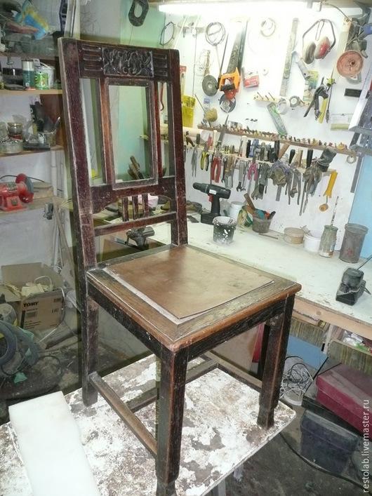 Реставрация. Ярмарка Мастеров - ручная работа. Купить Реставрация старинного дубового стула.. Handmade. Коричневый, обивка мебели, дерево