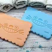 Washcloths handmade. Livemaster - original item The sponge for the face Funny kitten. Handmade.