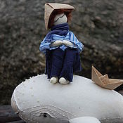 Куклы и игрушки ручной работы. Ярмарка Мастеров - ручная работа Текстильная кукла   В дальние страны. Handmade.