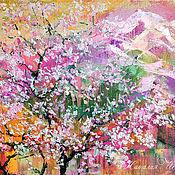 Картины и панно handmade. Livemaster - original item The cherry blossoms on the mountain Doi Suthep. Handmade.