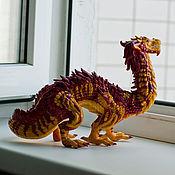 Куклы и игрушки ручной работы. Ярмарка Мастеров - ручная работа фигурка Азиатский тропический дракон. Handmade.