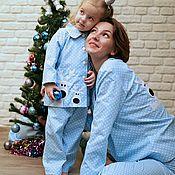 Работы для детей, handmade. Livemaster - original item Pajamas for girls Christmas collection