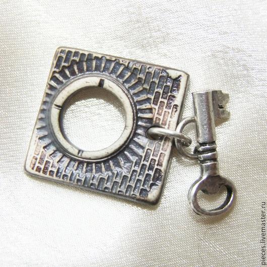 Для украшений ручной работы. Ярмарка Мастеров - ручная работа. Купить КИРПИЧНАЯ СТЕНА замок тогл керамический. Handmade.