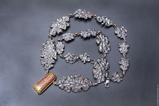 """Колье, бусы ручной работы. Ярмарка Мастеров - ручная работа. Купить """"Gift from the past"""" Колье с аммолитом. Handmade."""