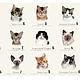 """Шитье ручной работы. Ярмарка Мастеров - ручная работа. Купить Панель """"Коллекция котов"""". Handmade. Коты, лоскутное шитье ткани"""
