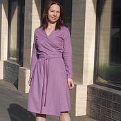 Шерстяное платье / платье на запах