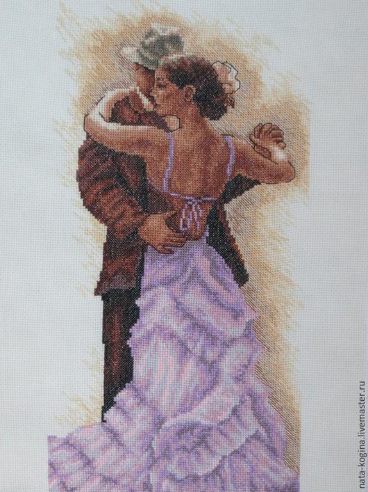 Люди, ручной работы. Ярмарка Мастеров - ручная работа. Купить Чувственный танец. Handmade. Сиреневый, люди, вышитая картина крестиком