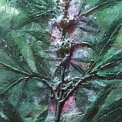 Картины и панно ручной работы. Ярмарка Мастеров - ручная работа Панно Cannabis Sativa. Handmade.