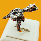 Украшения handmade. Livemaster - original item Snake ring 925 sterling silver. Handmade.