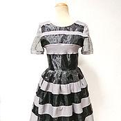 Одежда ручной работы. Ярмарка Мастеров - ручная работа Платье Green World стиль 50-х годов. Handmade.