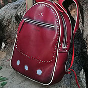 Сумки и аксессуары handmade. Livemaster - original item Backpacks: Handmade leather rucksack art NAUTICAL. Handmade.