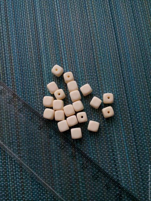 """Для украшений ручной работы. Ярмарка Мастеров - ручная работа. Купить Бусины из кости """"Кубики"""". Handmade. Белый, молочный, бусины"""