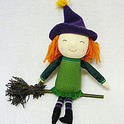 Куклы и игрушки ручной работы. Ярмарка Мастеров - ручная работа Милая ведьмочка. Handmade.
