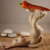 Куклы и игрушки ручной работы. Ярмарка Мастеров - ручная работа Саламба Сарвангасана(заяцЙОГ). Handmade.
