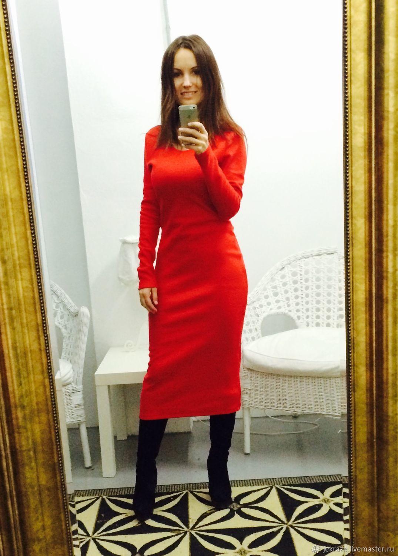 749f3a7ea41 Платья ручной работы. Ярмарка Мастеров - ручная работа. Купить Красное  платье по фигуре