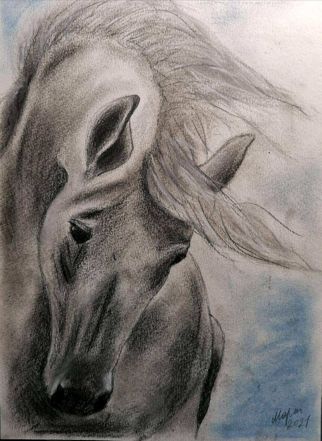 Картина Серая Лошадь, Картины, Тюмень,  Фото №1