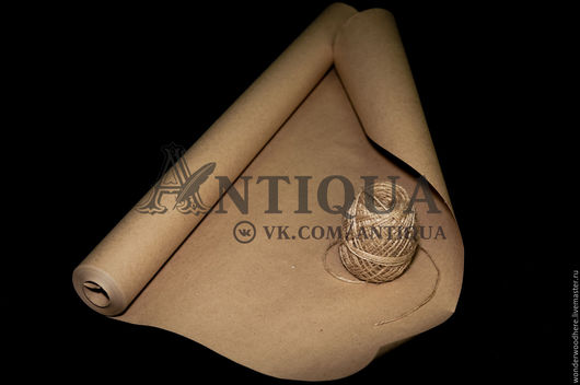 Упаковка ручной работы. Ярмарка Мастеров - ручная работа. Купить Крафт-бумага 80 г/м2 рулон 18 метров. Handmade.