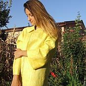 "Одежда ручной работы. Ярмарка Мастеров - ручная работа Валяное пальто "" Поцелуй солнца"". Handmade."