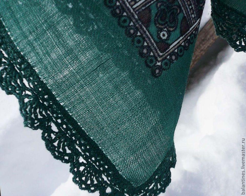 Pavlovo Posad shawl scarf with openwork edge, Shawls1, Almetyevsk,  Фото №1