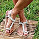 mens greek sandals white leather. Any sizes and colors custom made according to your measurements!