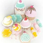 """Куклы и игрушки ручной работы. Ярмарка Мастеров - ручная работа Набор для игр """"Чаепитие"""" набор еды, набор игрушек. Handmade."""