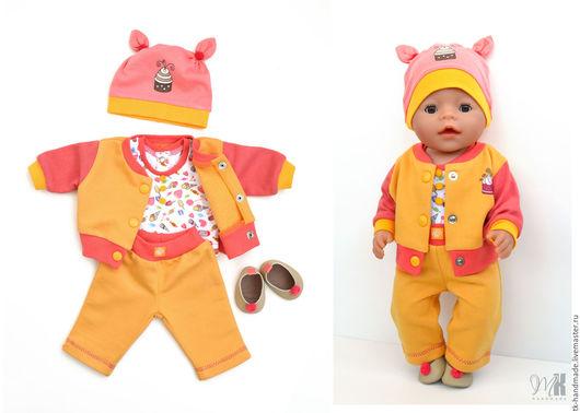 """Одежда для кукол ручной работы. Ярмарка Мастеров - ручная работа. Купить Комплект """"Сладость 2"""" для куклы Беби Бон (Baby Born). Handmade."""